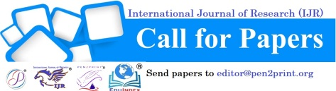 call for papers 2019 | International Journal of Research (IJR)