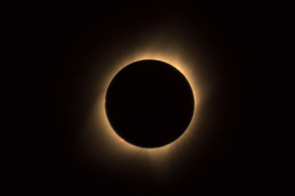 Solar eclipse captured by a professional photographer.