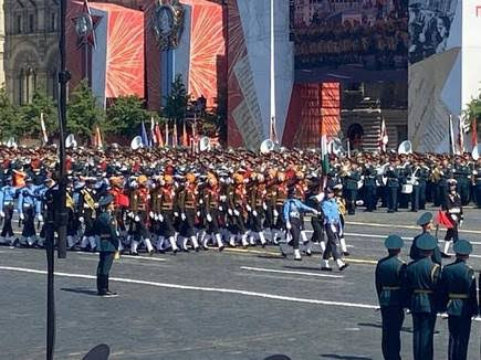 Tri-service contingent of Indian Military Participates In Victory Day Parade In Russia