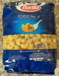 Codo No. 4 - Barilla - 500 g