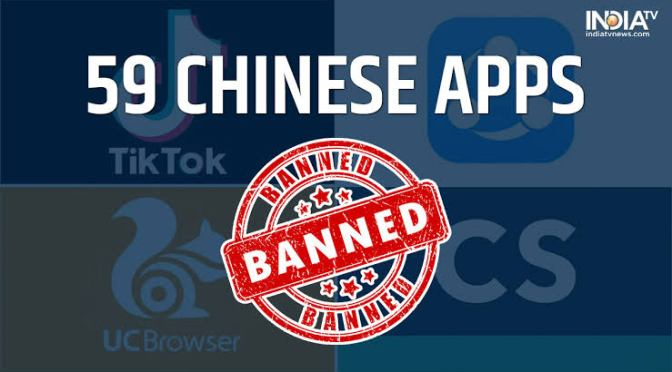 CHINESE APPLICATIONS OUTLAWED